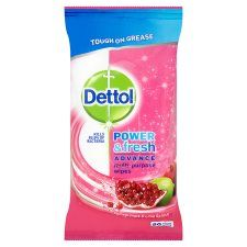 Dettol Wipes Power and Fresh Pomegranate 80S