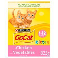 Go Cat Kitten Chicken Carrot & Milk Nuggets 825g