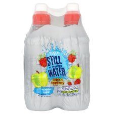 Tesco Still Water Apple & Raspberry 4X300ml