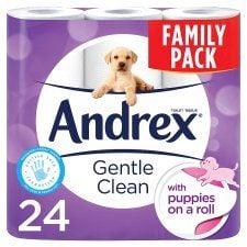 Andrex Toilet Tissue 24 Roll Puppies On A Roll