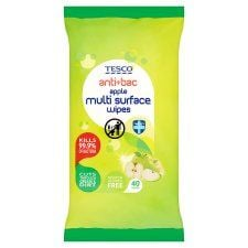 Tesco Apple Multi Surface Wipes 40 Pack
