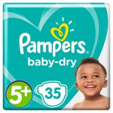 Pampers Baby Dry Size 5+ Essential Pack 35 Nappies
