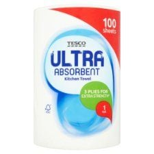 Tesco Ultra Kitchen Towel 100 Sheets