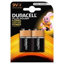Duracell Plus 9V 2 Pack