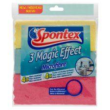 Spontex Magic Microfibre Cloths 3 Pack