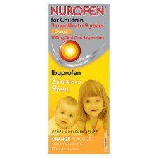 Nurofen For Children 100Mg Orange Liquid 100ml