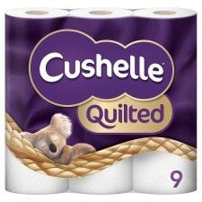 Cushelle Quilted Toilet Rolls 9 Pack