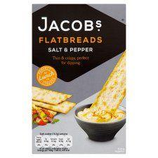 Jacobs Flatbread Salt & Cracked Black Pepper 150g