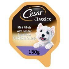 Cesar Lamb and Chicken In Jelly Dog Food Tray 150g