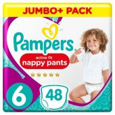 Pampers Active Fit Size 6 Jumbo+ X48 Nappy Pants