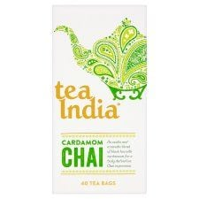 Tea India Cardamom Chai 40 Tea Bags 100g