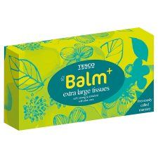Tesco Balm Extra Large Tissues 54S