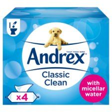 Andrex Classic Clean Washlets 4 Pack