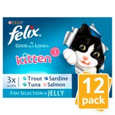 Felix As Good As It Looks Kitten Fish 12 X 100g