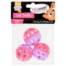 Good Girl Rattle Balls Cat Toy 3 Pack