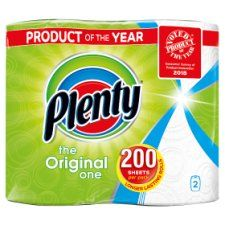Plenty White Kitchen Roll 200 Sheets