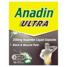 Anadin Ultra Caps 200Mg 16S