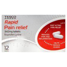 Tesco Rapid Pain Relief Ibuprofen 12S