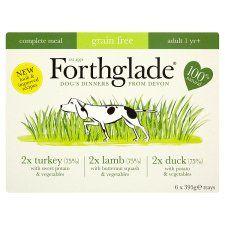 Forthglade Turkey Lamb Duck Dog Food Tray 6X395g