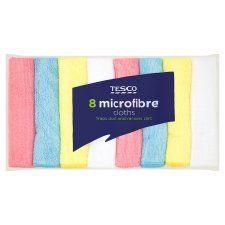 Tesco Microfibre Cloth 8 Pack