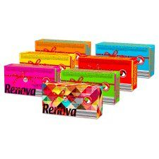 Renova Facial Tissue Single Box Various Colours