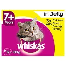 Whiskas 7+ Senior Cat Mixed Selection in Jelly 12x100g