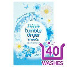 Tesco Spring Fresh Tumble Dryer Sheets 40S