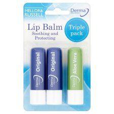 Derma Intensive Lip Balms Triple Pack