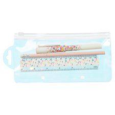 Tesco Petal Pen Pencil Ruler Set