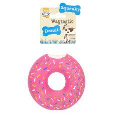 Wagtastic Toy Squeaky Donut Dog Toy