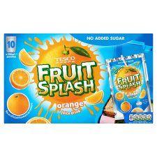 Tesco No Added Sugar Orange Drink Pouch 10X200ml