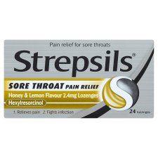 Strepsils Throat Pain Honey and Lemon X24