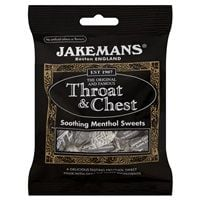 Bulk Buy 10 x 100g Jakemans Throat and Chest Soothing Menthol Sweets Multipack