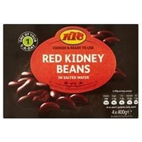 Catering Size KTC Red Kidney Beans in Salted Water 4 x 400g