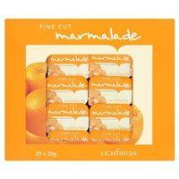 Bulk Buy Lichfields Fine Cut Marmalade Individual Portions 20 x 20g