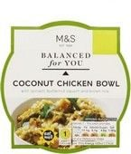 Marks and Spencer Balanced For You Coconut Chicken Bowl 300g