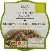 Marks and Spencer Balanced For You Smoky Pulled Pork Bowl 300g
