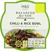 Marks and Spencer Balanced For You Chilli and Rice Bowl 300g