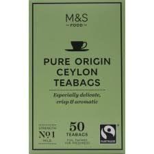 Marks and Spencer Pure Origin Ceylon Tea 50 Teabags