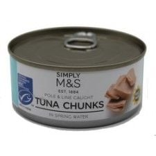 Marks and Spencer Tuna Chunks in Spring Water 160g