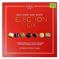 Marks and Spencer Chocolate Selection Milk, Dark and White 320g
