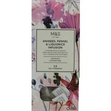 Marks And Spencer Aniseed Fennel And Liquorice Infusion 15 Tea Pyramids