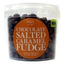 Marks and Spencer Chocolate Salted Caramel Fudge Dessert Topping 240g