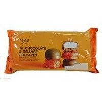 Marks and Spencer Chocolate and Orange 16 Teacakes 280g