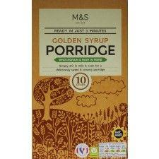 Marks and Spencer Golden Syrup Porridge 10 x 36g