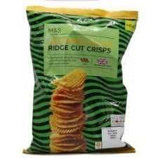 Marks And Spencer Jalapeno Nacho Ridge Cut Crisps 135g