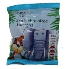 Marks And Spencer Milk Chocolate Buttons 30g