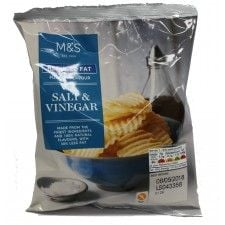 Marks And Spencer Reduced Fat Full On Flavour Salt And Vinegar Crinkle Cut Crisps 40g