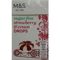 Marks and Spencer Sugar Free Strawberry and Cream Drops 42g