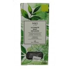 Marks and Spencer Ultimate Mint Infusion Tea Pyramids 15 Teabags
